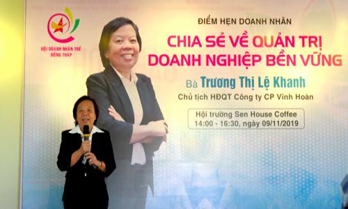 Bà Trương Thị Lệ Khanh chia sẻ về quản trị doanh nghiệp bền vững