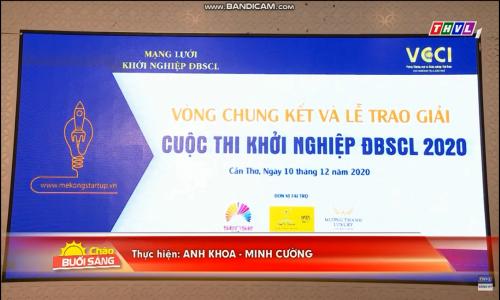 Đài truyền hình Vĩnh Long đưa tin về Vòng chung kết và Lễ trao giải Cuộc thi Khởi nghiệp ĐBSCL 2020