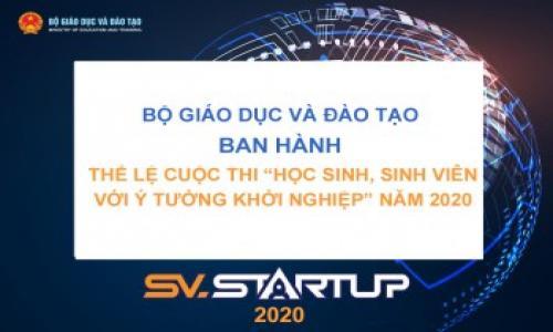 """Quyết định Về việc ban hành Thể lệ Cuộc thi """"Học sinh, sinh viên với ý tưởng khởi nghiệp"""" năm 2020 (SV.STARTUP-2020)"""