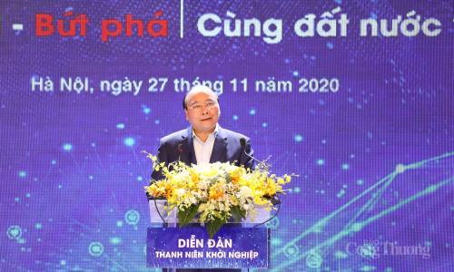 Thủ tướng: Bãi bỏ quy định không cần thiết, tạo thuận lợi cho thanh niên khởi nghiệp