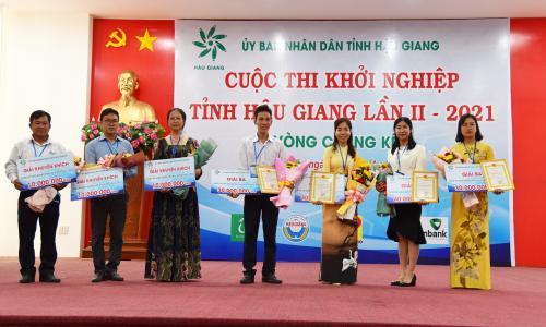 Vòng chung kết Cuộc thi khởi nghiệp tỉnh Hậu Giang  lần II năm 2021