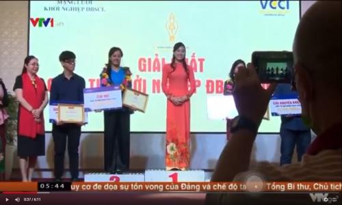 VTV1 đưa tin về Vòng chung kết và Lễ trao giải Cuộc thi Khởi nghiệp ĐBSCL 2020